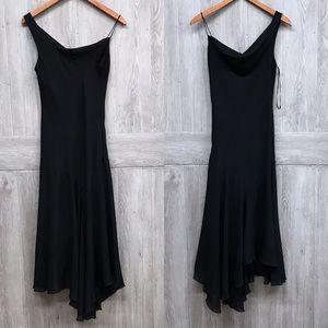 Bisou Bisou Asymmetrical Evening Gown Black A2
